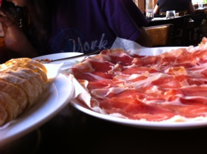 Luscious 18-month-old jamón serrano at Panzur. Photo by Jennifer Harington Brizzi