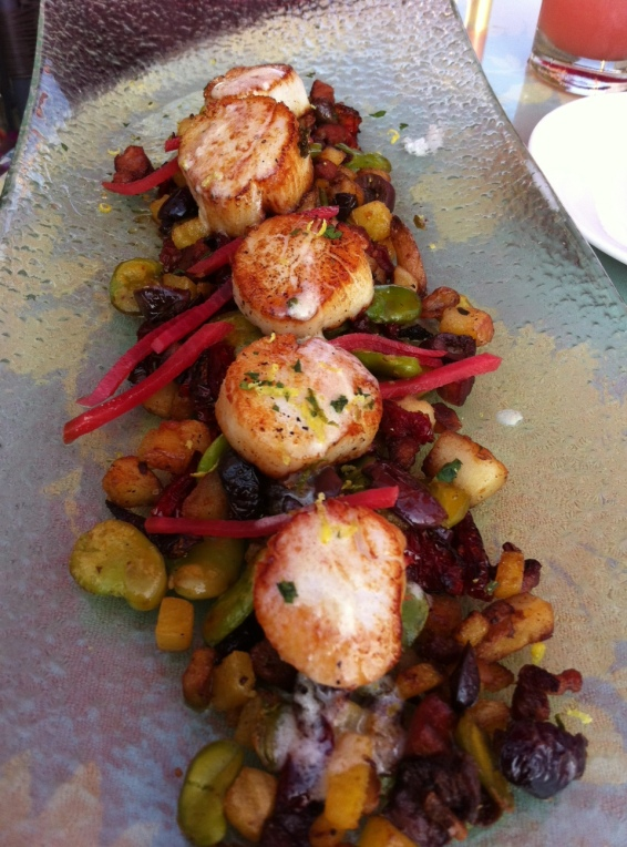 Sea scallops at FishBar.