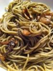 Spaghetti al nero delle seppie, a Sicilian dish.